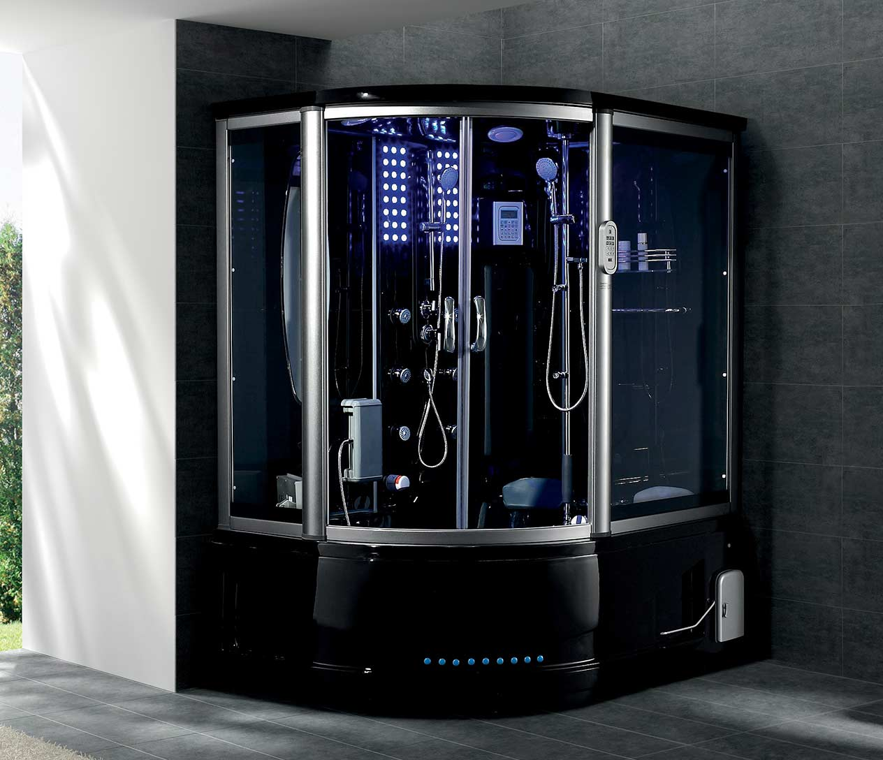 g165rightblack_detail1jpg - Luxury Steam Showers